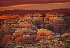 Red Utah Rocks Stock Photo