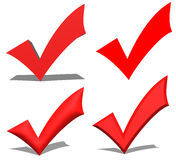 Red V check marks Royalty Free Stock Image