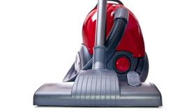 Red vacuum cleaner Royalty Free Stock Photography