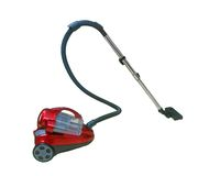 Red Vacuum Cleaner isolated Royalty Free Stock Photo