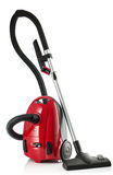 Red Vacuum Cleaner isolated on white background Royalty Free Stock Image