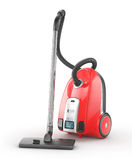 Red vacuum cleaner. On a white background. 3d illustration royalty free illustration