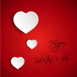 Red valentine 3D card Royalty Free Stock Photo