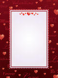 Red valentine background Stock Photography