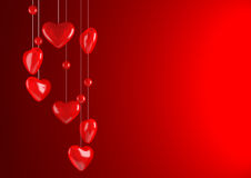 Red valentine background Royalty Free Stock Image