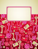 Red valentine background,  Royalty Free Stock Image