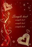 Red Valentine Background With Bows and Hearts. Royalty Free Stock Image