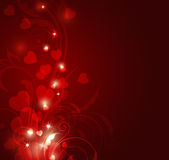 Red Valentine background Stock Photos