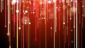 Red Valentine background, looped. Red Valentine lights background, looped stock video
