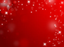 Red Valentine background with stars with text space Stock Photos