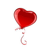 Red Valentine balloon Royalty Free Stock Photo