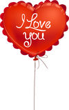 Red Valentine balloon I love you! Royalty Free Stock Photos