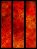 Red valentine banners Stock Image