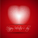 Red valentine card with ball heart Royalty Free Stock Image
