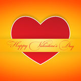 Red valentine card in the pocket. Eps10 Royalty Free Stock Image