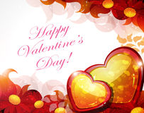Red Valentine card Royalty Free Stock Images