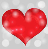 Red valentine day heart Royalty Free Stock Photo