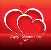 Red valentine day heart Stock Image