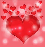 Red valentine day heart Stock Photo