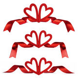 Red Valentine day hearts Royalty Free Stock Images