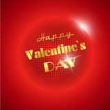 Red valentine disco ball Stock Photography