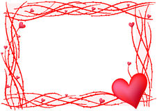Red valentine frame Royalty Free Stock Photo