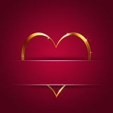 Red Valentine Gift Card Royalty Free Stock Photography