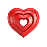 Red valentine heart Stock Photos