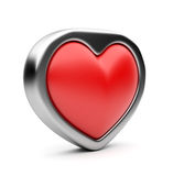 Red valentine heart 3D.  Stock Photos