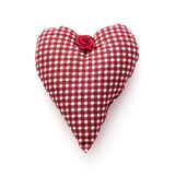 Red valentine heart of fabric Royalty Free Stock Image