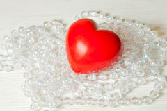 Red valentine heart Stock Images