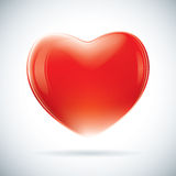 Red valentine heart shape Stock Image