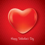 Red valentine heart shape Stock Images