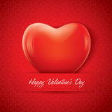 Red valentine heart shape Royalty Free Stock Images