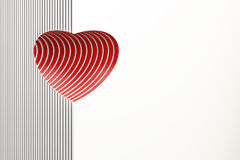 Red valentine heart Stock Image