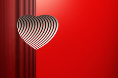 Red valentine heart Royalty Free Stock Photography