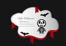 Vector Design for Halloween day. Vector Design for Halloween day on white background Stock Image