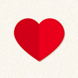 Red Valentine heart. Vector eps-10. Stock Image