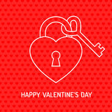 Red Valentine heart, vector illustration Royalty Free Stock Images