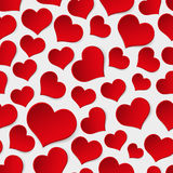 Red valentine hearths symbol seamless pattern Stock Image