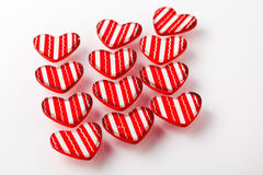 Red Valentine hearts Stock Images