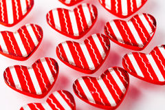 Red Valentine hearts Royalty Free Stock Photos