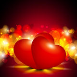 Red Valentine Hearts. Stock Photos