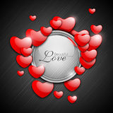 Red Valentine Hearts. Royalty Free Stock Photos