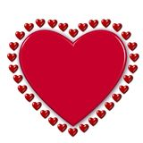 Red valentine hearts Royalty Free Stock Image