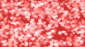 Red Valentine Hearts Bokeh Looped Animation Background. stock video