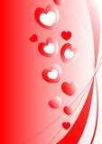 Red Valentine Hearts Design Stock Photo