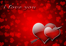 Red Valentine Hearts Stock Photography