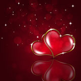 Red Valentine Holiday Background Stock Photos