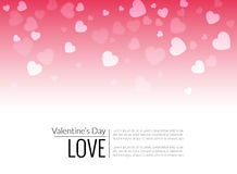 Red Valentine holiday background with hearts Stock Image